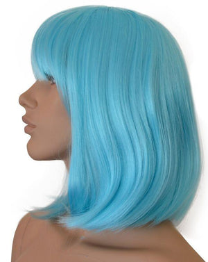 Deluxe Light Blue Bob Wig