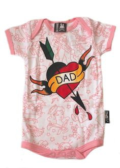 Dad Tattoo Baby Romper