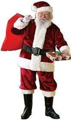 Deluxe Deep Red Santa Claus Costume