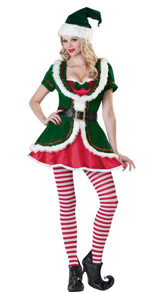 Deluxe Ladies Elf Costume