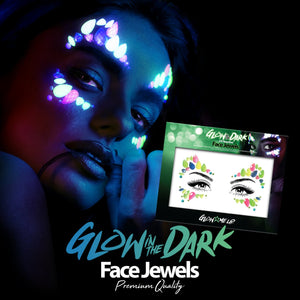 Glow in the Dark Face Gems