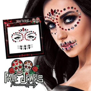 Day of the Dead Sugar Skull Face Gems