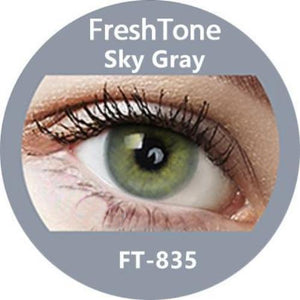Freshtone Super Naturals: Sky Grey Contact Lenses
