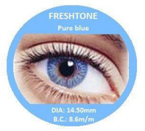 Freshtone Pure Blue Contact Lenses