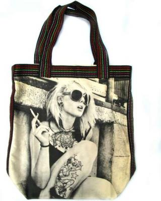 Tattoo Model Canvas Tote Bag