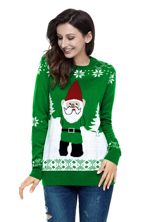 Green Gnome Christmas Knitted Sweater