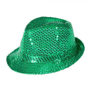 Green Sequined Fedora