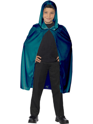 Forrest Green Velvet Hooded Cape