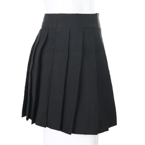 Black Goth Asymmetrical Cut-Out Skirt