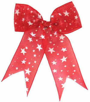 Red Bow with Stars