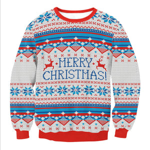Digital Print Merry Christmas Pullover