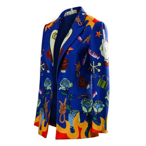 Birds of Prey Harley Quinn Blue Blazer Jacket