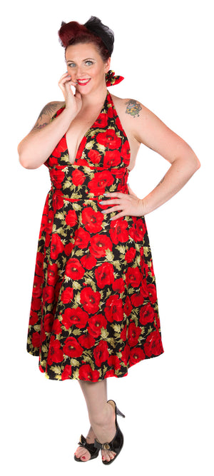 Poppy Halterneck Dress