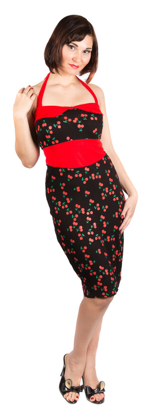 Cherry Pencil Dress