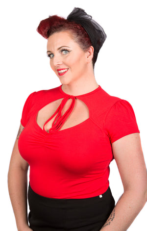 Pinup Tie Top - Extra Stretch Fabric