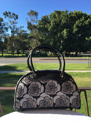 Handbag Medium Rose Print
