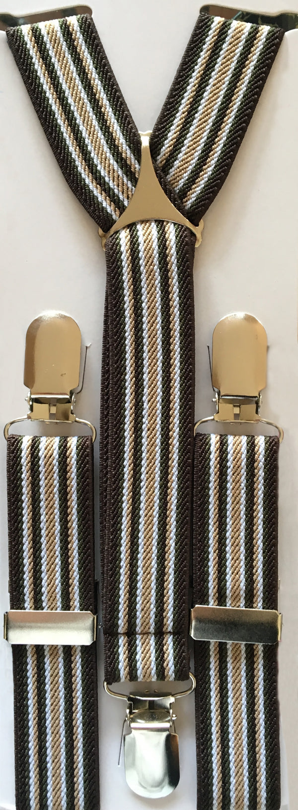 Blue and Golden Stripes Suspender
