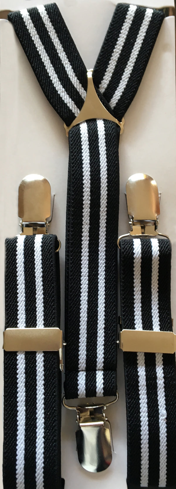 Black and White Stripes Suspender