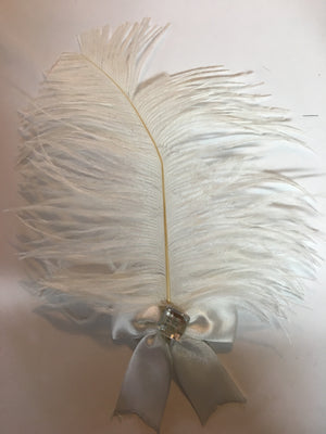 White Feather Hair Clip