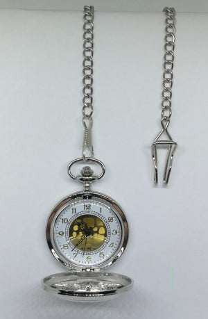 Bright Silver Pocket Watch (D)