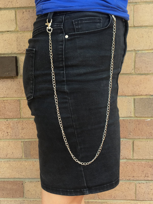 Silver Thin Wallet Chain
