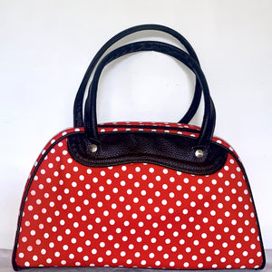 Handbag Medium Red Polka Dot