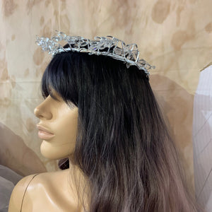 Silver Crystal Crown