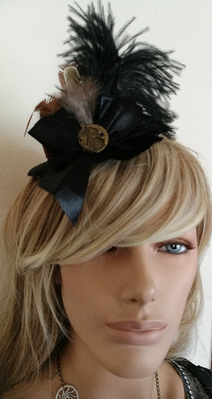 Black and Brown Mini Steampunk Top Hat