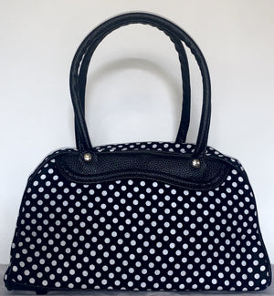Handbag Medium Black Polka Dot