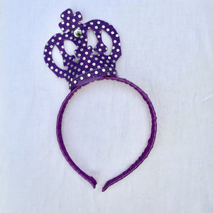 Sequin Crown Purple