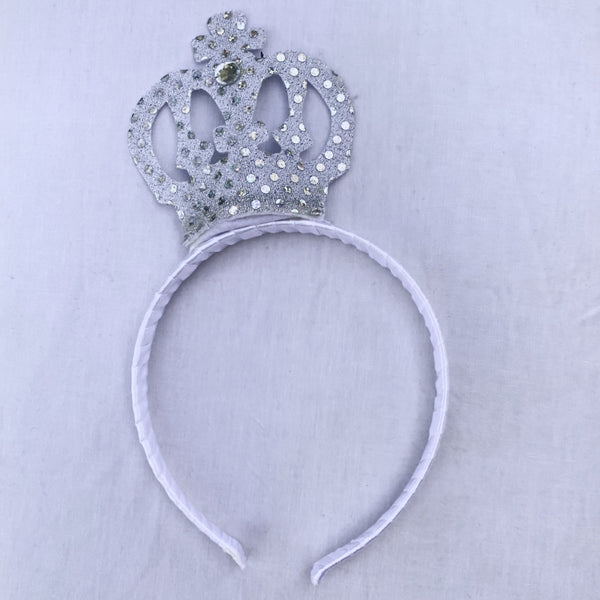 Sequin Crown Silver