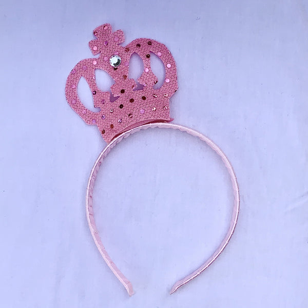 Sequin Crown Pink