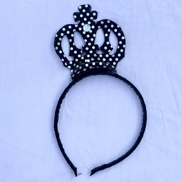 Sequin Crown Black