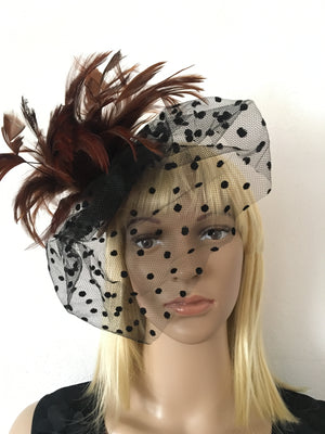 Brown Ladies Steampunk Mini Hat