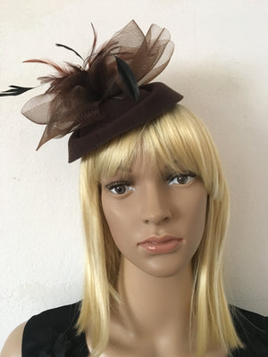 Steampunk Style Fascinator Brown