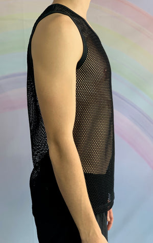 Black Fishnet Singlet