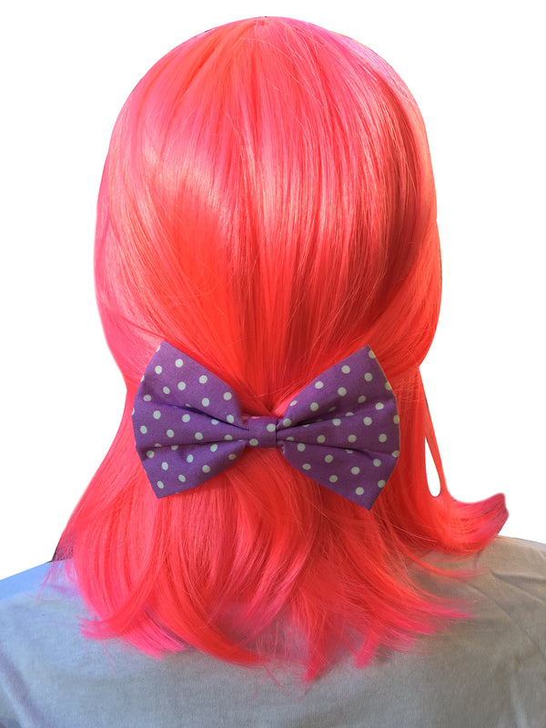 Purple Bow With Polka Dots