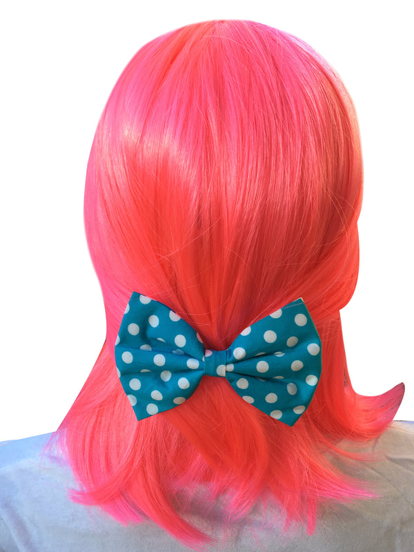 Blue Bow With Polka Dots
