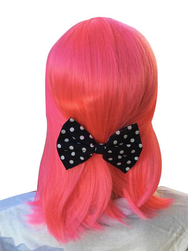Black Bow With Polka Dots