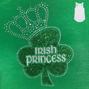 Irish Princess Ladies Green Singlet