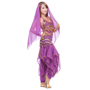 Purple Belly Dancing Costume