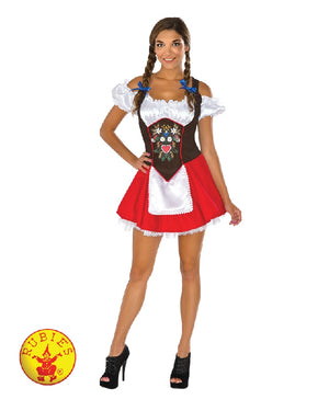 Ladies Red and Brown Oktoberfest Costume