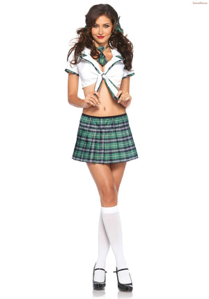 Leg Avenue: Miss Prep School Green