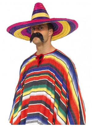 Large Multi-Coloured Sombrero Hat