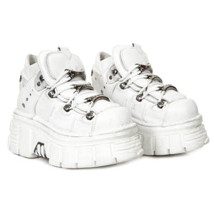 PRE-ORDER M.106-S53 New Rock White Platform Shoes