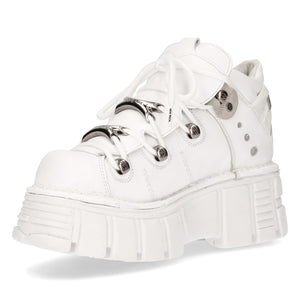 PRE-ORDER M-106N-C27 New Rock White Platform Sneakers