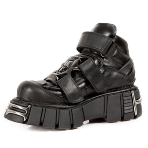 PRE-ORDER M.285-S1 New Rock Platform Leather Shoes