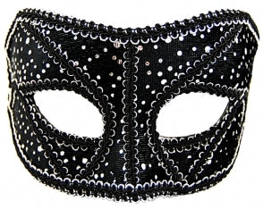 Black and Silver Masquerade Mask