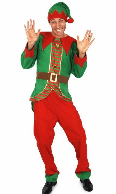 Men's Christmas Elf Costume - Men's Christmas Elf Costume - Hurly Burly