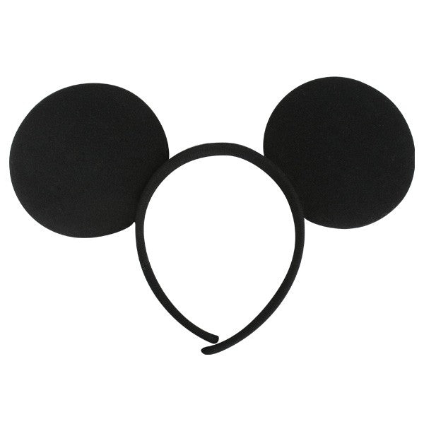 Black Fabric Mouse Ears Headband